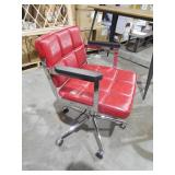 Portray Red Mid Back Upholstered Vinyl Office Chair by  MODWAY
