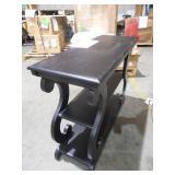 Ashland Brushed Black Console Table by  OSP Home Furnishings