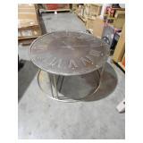 Roman Dark Antique Silver Coffee Table by  Safavieh