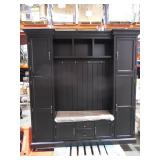 """Royce Solid Black 79.25"""" W Hall Tree by  Home Decorators Collection"""
