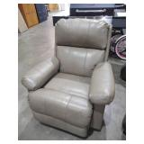 Soft Touch Taupe Leather Rocker Recliner by  Lane