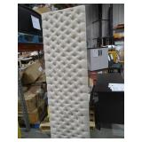 Jezebel Light Beige King/Cal King Button Tufted Headboard by  Noble House