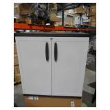 HDX 36 in. H x 36 in. W x 18 in. D Plastic 2 Shelf Multi-Purpose Base Cabinet in Gray