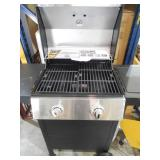Dyna-Glo 2-Burner Open Cart Propane Gas Grill in Stainless Steel and Black with Side Burner