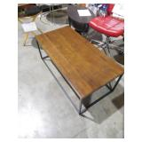 Doxa Dark Walnut with Matte Black Metal Frame Coffee Table by  Nathan James