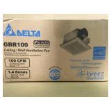 Delta Breez GreenBuilder Series 100 CFM Wall or Ceiling Bathroom Exhaust Fan, ENERGY STAR  in good condition