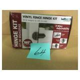 Veranda 5-1/2 in. x 7 in. x 9 in. Vinyl Fence Gate Hinge Kit  in good condition