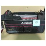 Husky 20 in. Pro Tool Tote with Removable Tool Wall HANDLE NEEDS REPAIR ON ONE SIDE