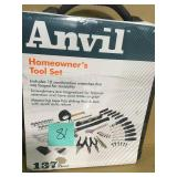 ANVIL 3/8 in. Drive SAE and Metric Homeowners Tool Set (137-Piece)  in good condition