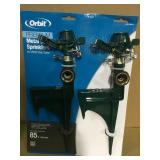 Orbit Zinc Green Partial-Circle and Full-Circle Sprinkler Head (2-Pack)  in good condition