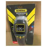 General Tools Professional Digital Pinless Moisture Meter with Backlit LCD  in good condition