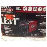 Lincoln Electric  140 Amp LE31MP Multi-Process Stick/MIG/TIG Welder with Magnum Pro 100L Gun, MIG and Flux-Cored Wire, Single Phase, 120V