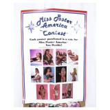 Vintage 1990 Miss Poster America Contest Poster Store Display