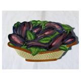 Case of New Vintage Ceramic Eggplant Themed Trivets