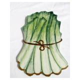 Case of New Vintage Ceramic Green Onions Themed Trivets