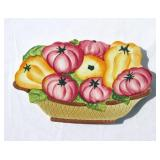 Case of New Vintage Ceramic Tomatoes and Peppers Themed Trivets
