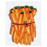 Case of New Vintage Ceramic Carrot Themed Trivets