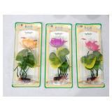 Case of New Vintage Penn Plax Artificial Aqua Lily Plants