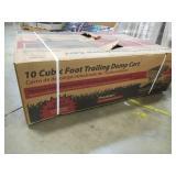 Precision 10 cu. ft. Steel Trailing Dump Cart, LDT1002B - NEW IN BOX