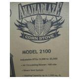 AMAIZABLAZE CORN STOVE - MODEL 2100 - ADJUSTABLE BTU 8,000 - 30,000 BTU