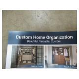 SimplyNeu Custom Organizer for Walk-in or Reach-in Closet in White.
