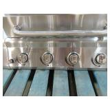 Nexgrill 4-Burner Propane Gas Grill in Stainless Steel with Side Burner - Grill Top only - Missing stand and Drip Covers
