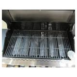 Nexgrill Nexgrill Deluxe 6-Burner Propane Gas Grill in Black with Side Burner 720-0898, Dent on Lid Missing Stand and Warming Rack.