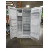 Whirlpool 24.5-cu ft Side-by-Side Refrigerator with Ice Maker (White), WRS555SIHW - Scratched Handle.