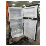 Insignia™ - 18 Cu. Ft. Top-Freezer Refrigerator - Stainless steel, NS-RTM18SS7 - NEW out of Box SLight dents on bottom of Door