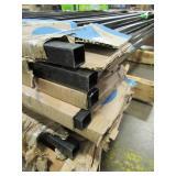 7 US Door & Fence Pro Series 4.84 ft. H x 7.75 ft. W Black Steel Fence Panels F2GHDS93X58US