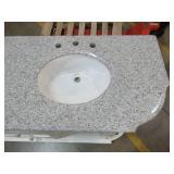 """Large Double Sink Vanity in White.  73 1/4 (widest part of Base) X 22"""" X 35"""" Tall. - Broken Door"""