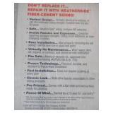 GAF Weatherside Profile14 14-5/8 in. x 32 in. Fiber Cement Shingle Siding, 2251000WG