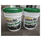 2 containers of Latex-ite 4.75 Gal. Airport Grade Driveway Filler Sealer. Model: 73066