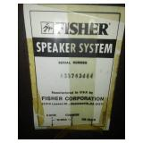 Fisher speakers, one pair Kumon 1978. 23