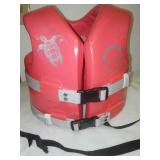 Life preserver vest, infant toddler 50 lb.