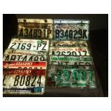 16 license plates, Washington and Idaho.