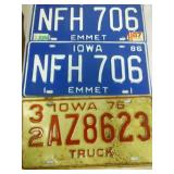 18 license plates variety of States.