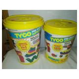 Two buckets of Tyco super blocks.