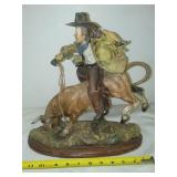 Cowboy riding a bull,