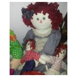 Raggedy Ann and Andy dolls and more.