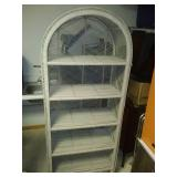 Five shelf wicker display unit - very nice