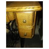 Antique oak treadle sewing machine stand. Excellent!