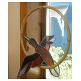 Stained glass hanging duck