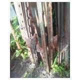 15 steel T fence post, 5 - 6 ft range.