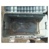 Rubbermaid exterior storage box.