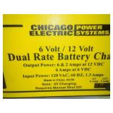 Battery charger 6V and 12v works.