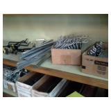 Shelving Hardware, Hooks, Buckets