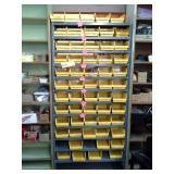 12-Shelf Metal Parts Organizer Cabinet with Plastic Bins