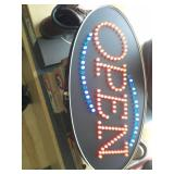 Pair of Cosco LED OPEN Signs