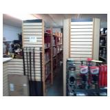 Commercial Slat Wall with Display Baskets and Hardware